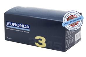 Маска медицинская лицевая 3-х слойная «Euronda»