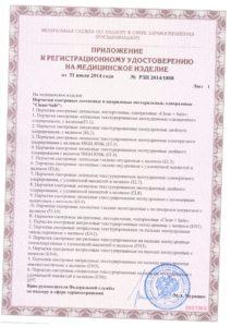 Приложение к регистрационному удостоверению перчатки медицинские латексные нитриловые нестерильные Clean+Safe