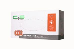 Перчатки EL3 латексные текстурированные High Risk «Clean+Safe»
