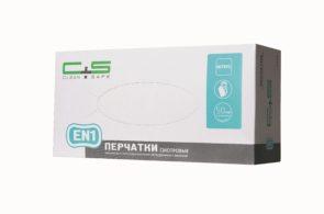 Перчатки EN1 нитриловые текстурированные «Clean+Safe»